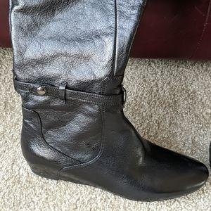 New Via Spiga over the knee black  boots 8.5